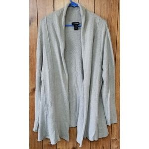 Lane Bryant Draped Fit & Flare Open Front Sweater